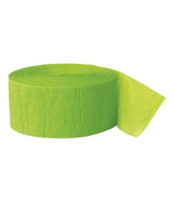 Lime Green Crepe Streamer