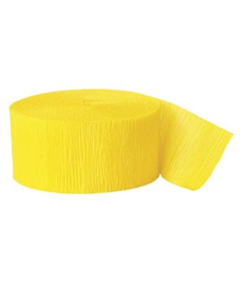 Yellow Crepe Streamer