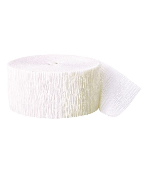 White Crepe Streamer