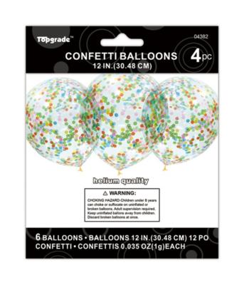 Multicolored Confetti Latex Balloon