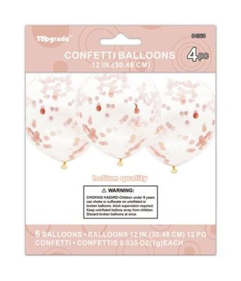 Rose Gold Confetti Latex Balloon