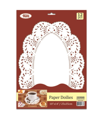 Oval Paper Dollies 12count