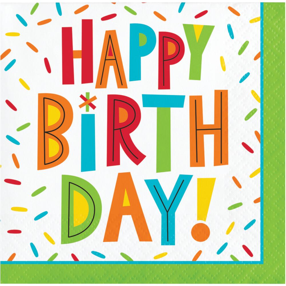Beverage Paper Napkin: Birthday Fun