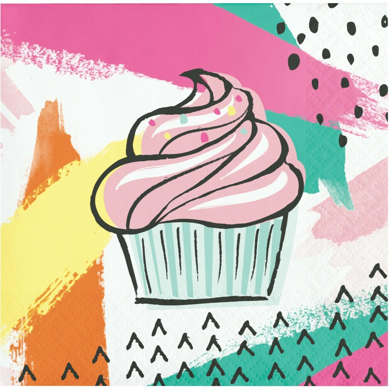 Beverage Paper Napkin: Chic Cupcake