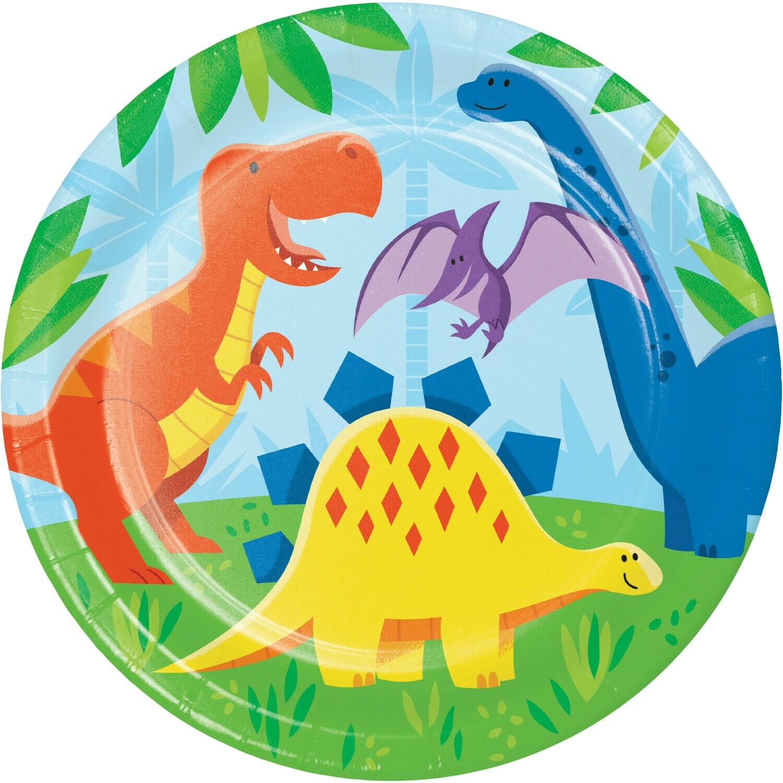 Dinner Paper Plate: Dinosaur Friends
