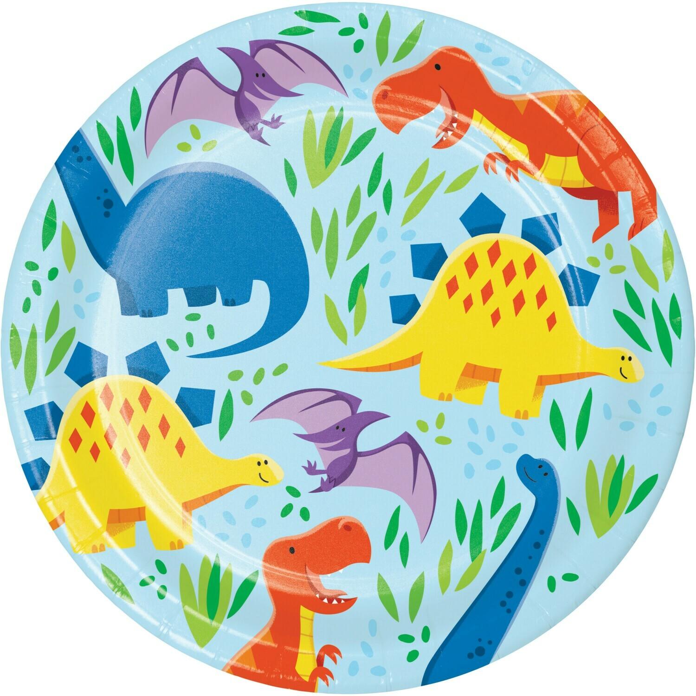 Lunch Paper Plate: Dinosaur Friends