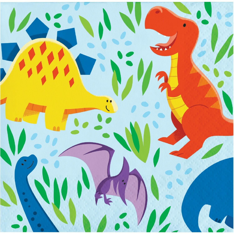Beverage Paper Napkin: Dinosaur Friends