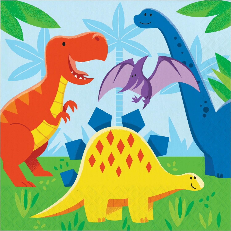 Lunch Paper Napkin: Dinosaur Friends