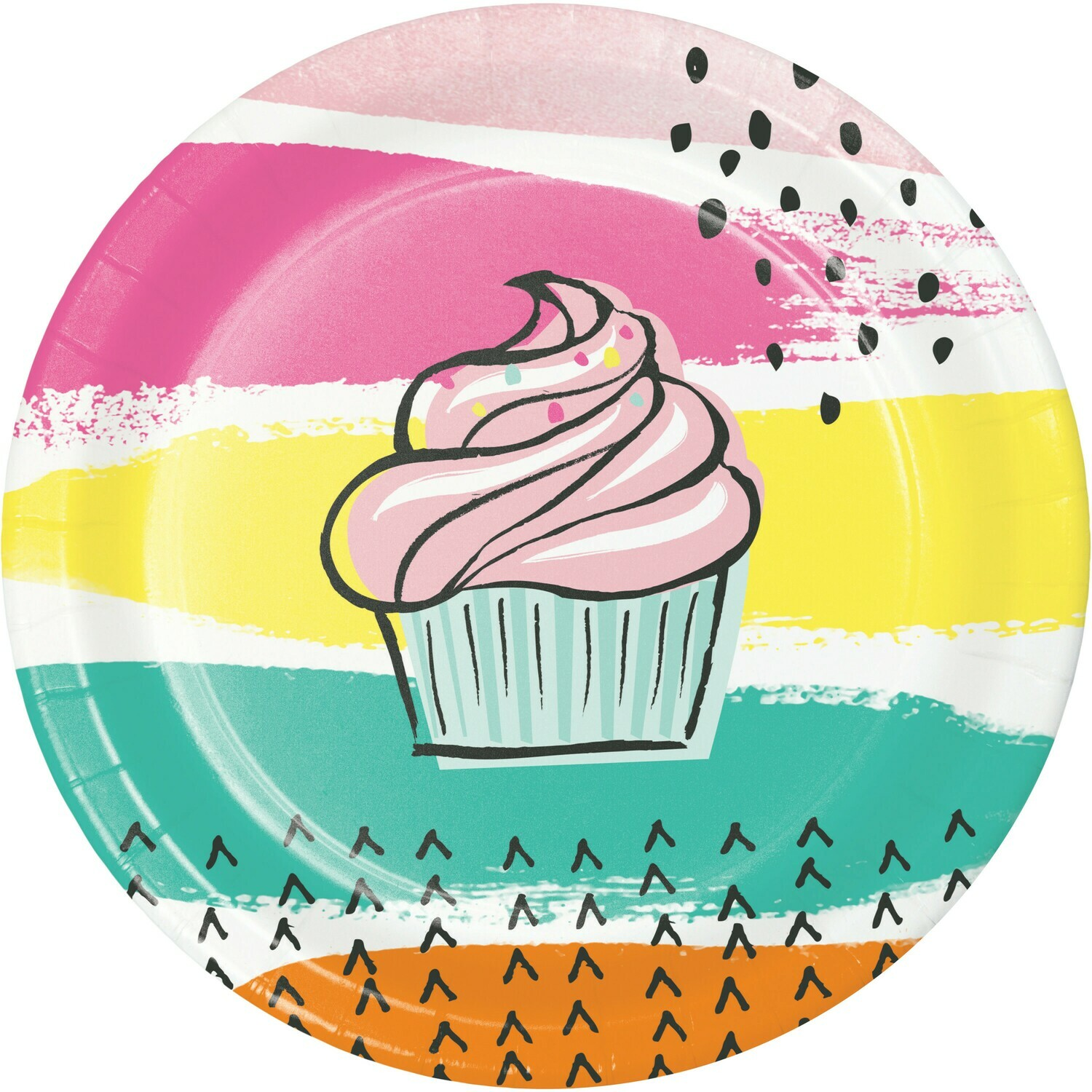 Lunch Paper Plate: Chic Cupcake