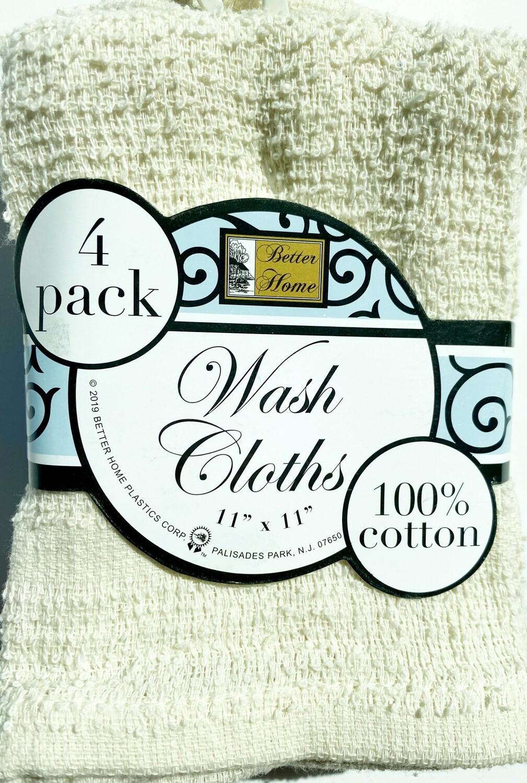 Wash Cloths: 4 pack