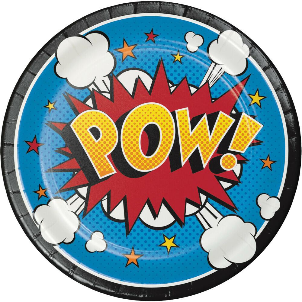 Lunch Paper Plate: Superhero Slogans