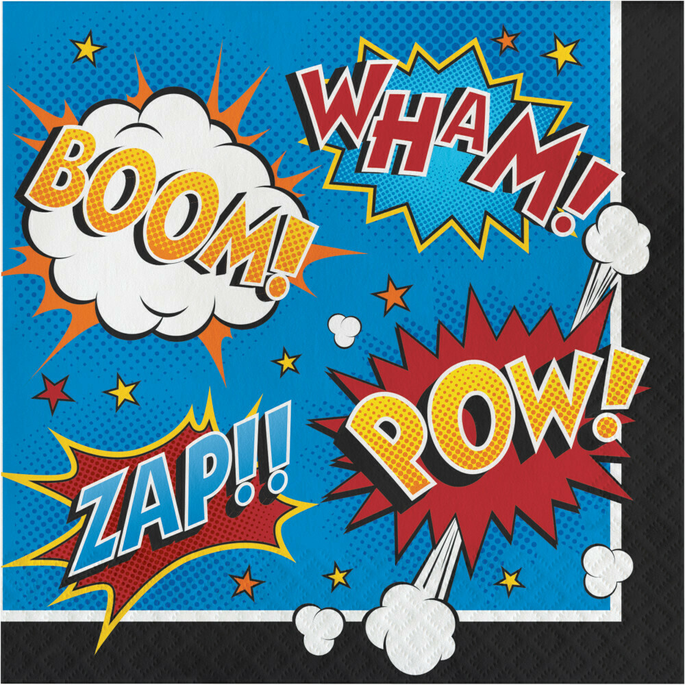 Lunch Paper Napkin: Superhero Slogans