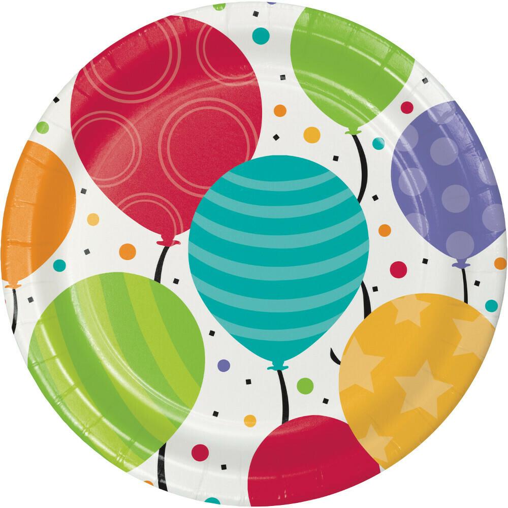 Dinner Paper Plate: Shimmering Balloons