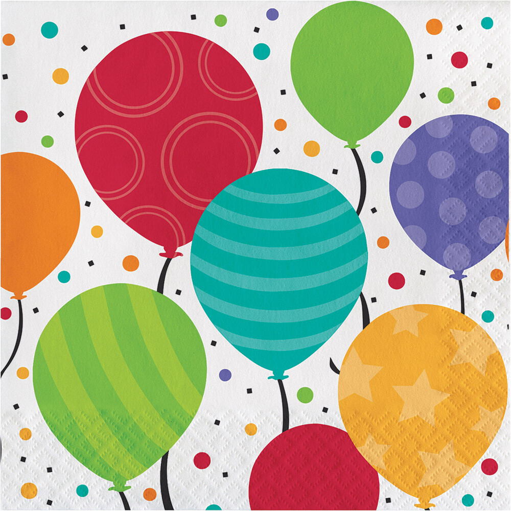 Lunch Paper Napkin: Shimmering Balloons