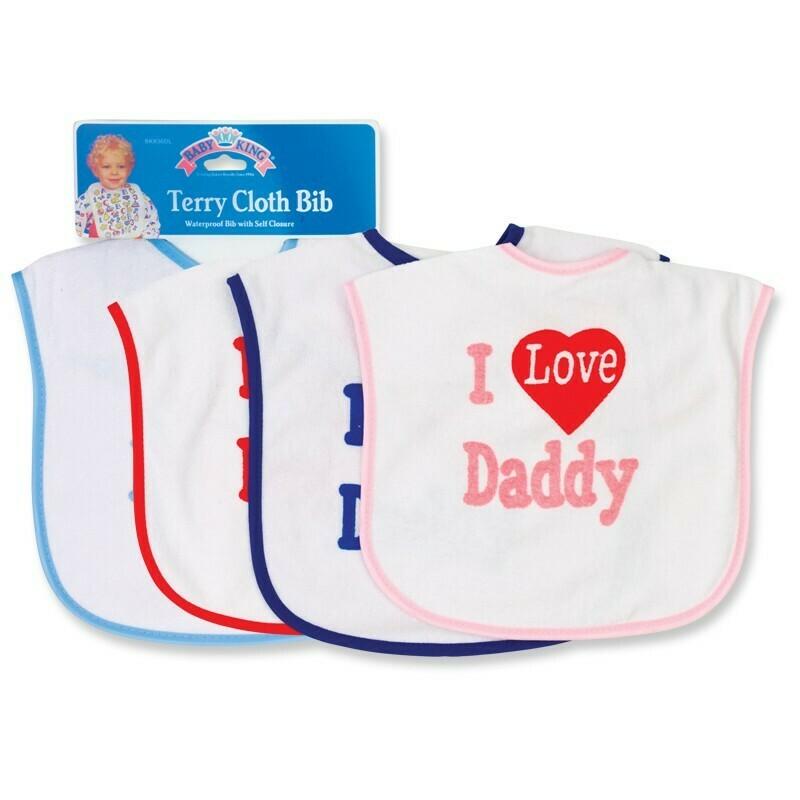I Love Daddy Bib - Girl