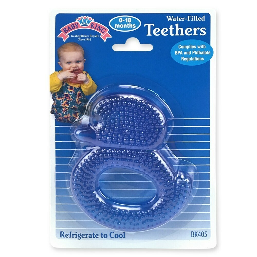 Water-filled Duck Teether - Blue