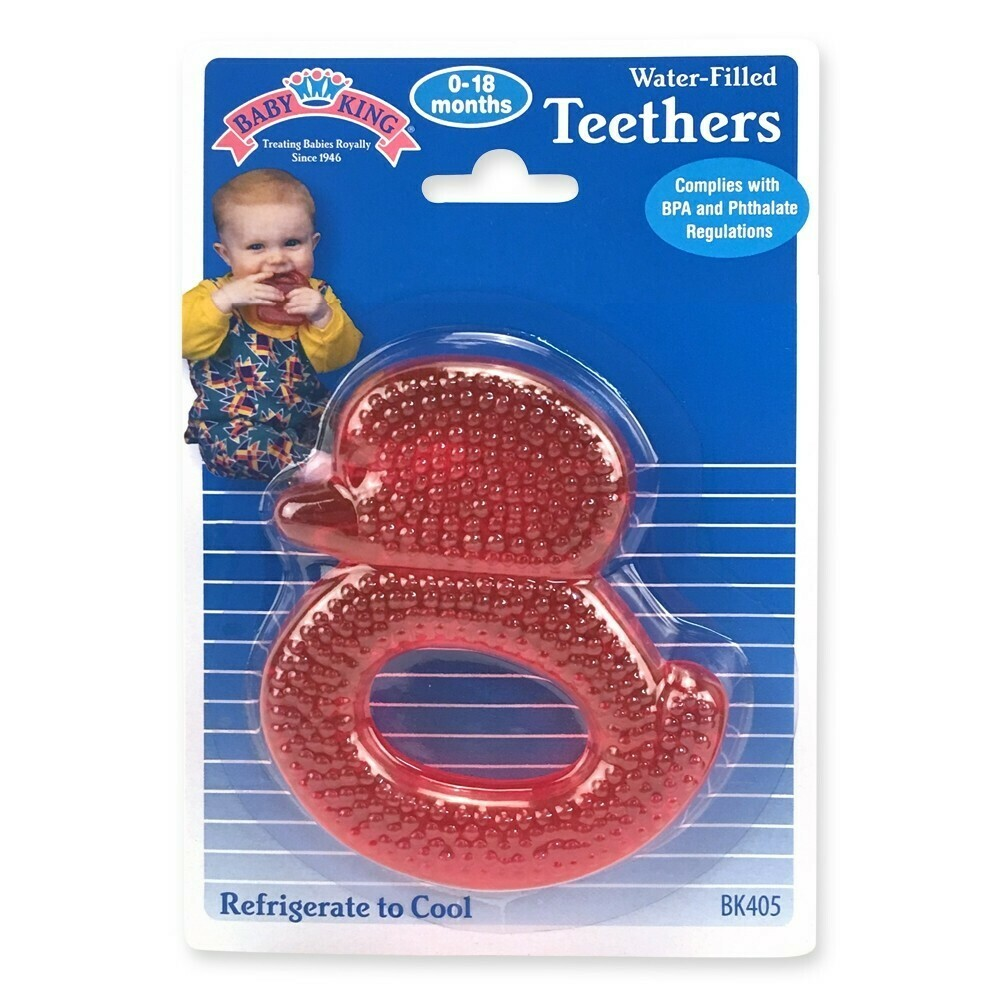 Water-filled Duck Teether - Red