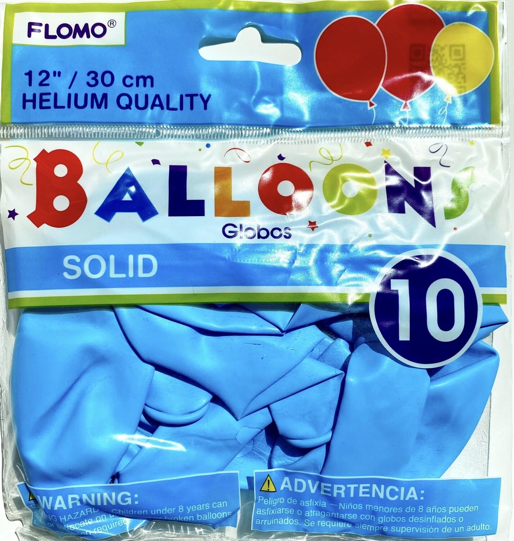 Light Blue Latex Balloon