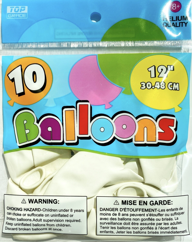 White Latex Balloon