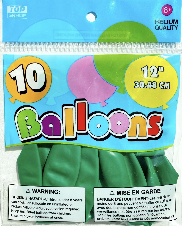 Emerald Green Latex Balloon