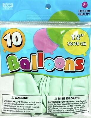 Sea Green Latex Balloon