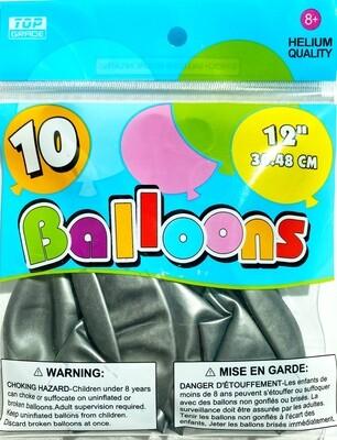 Silver Latex Balloon