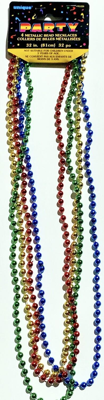 Multicolored Bead Necklaces