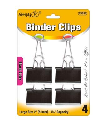 Black Binder Clips (Large)