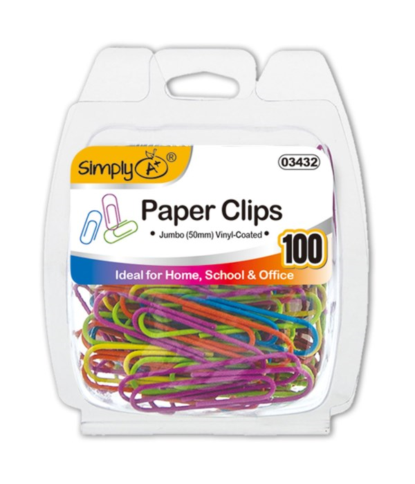 Colored Paper Clips (Jumbo)