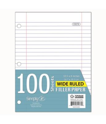 Wide Ruled Filler Paper