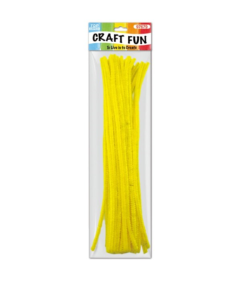 Yellow Chenille Stem/ Pipe Cleaner