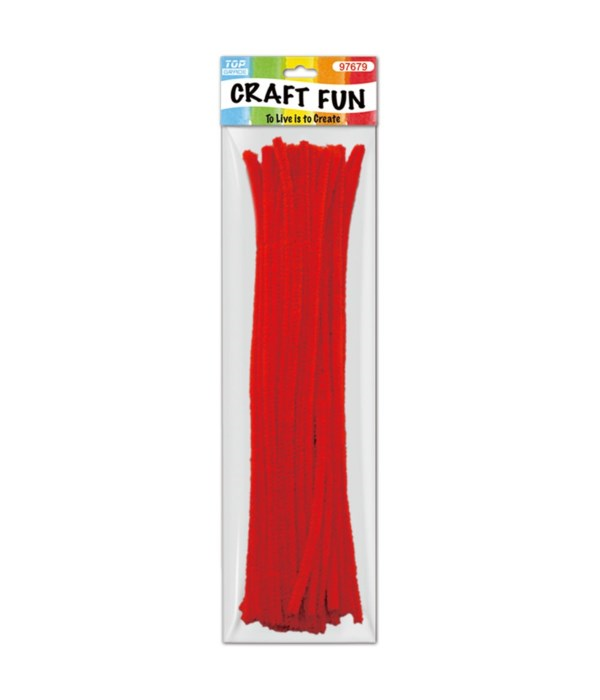 Red Chenille Stem/ Pipe Cleaner