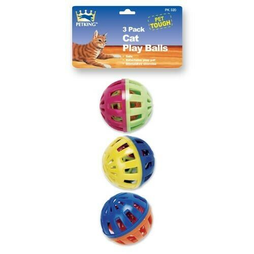 3 Pack Jumbo Cat Toy Balls