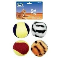 4 Pack Cat Play Balls