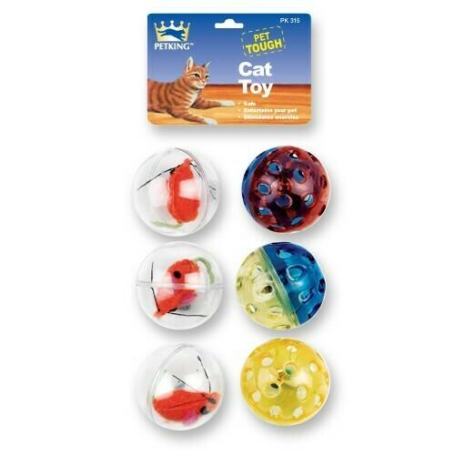 6 Pack Cat Toy Balls