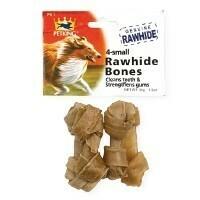4 Pack Small Rawhide Bones