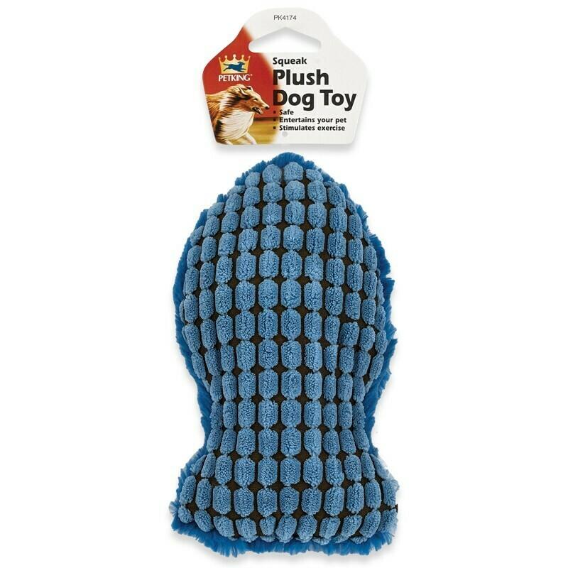 Plush Dog Toy - Blue