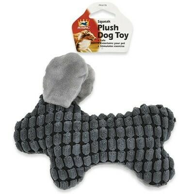 Plush Dog Toy - Gray