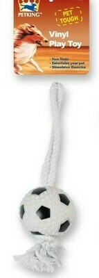 Sport Squeeze Rope Toy - Soccer