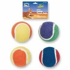 4 Pack Catnip Tennis Balls