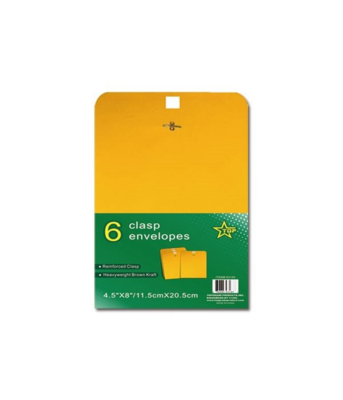 Clasp Envelopes (6 Pack)
