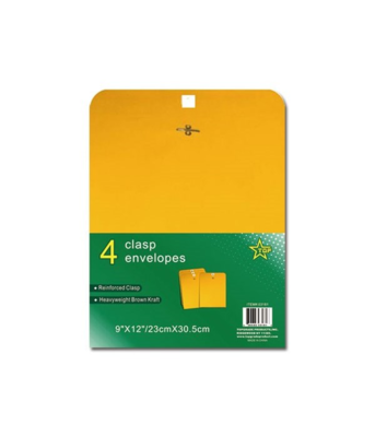 Clasp Envelopes (4 Pack)