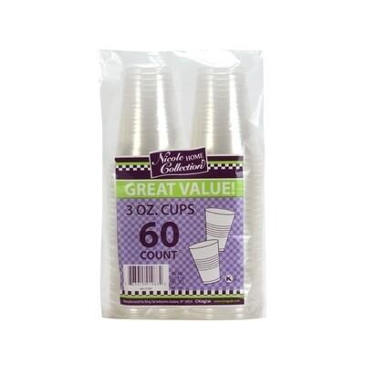 60-3oz. Plastic Cups