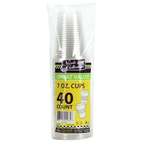 40-7oz. Cups - Clear Plastic