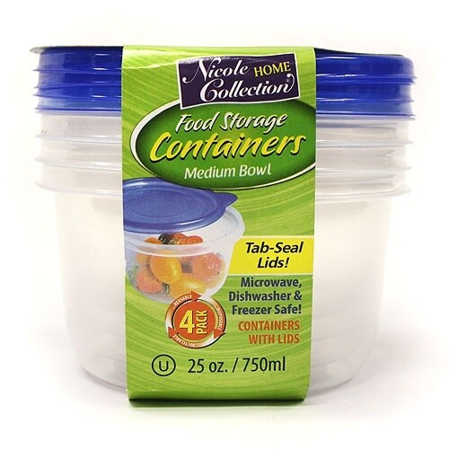 4 Round Container with Lids
