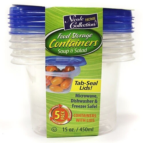 5 Round Container with Lids
