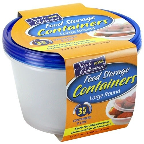 3 Round Container with Lids