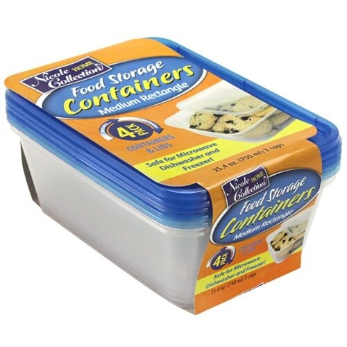 4 Rectangular Container with Lids