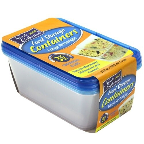 3 Rectangular Container with Lids