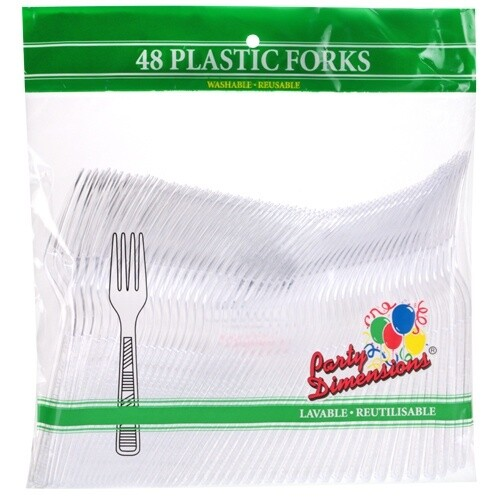 48 Plastic Fork - Clear